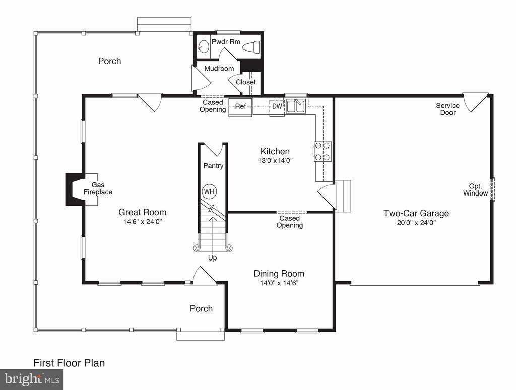 1st Floor Plan - 101 FLINTLOCK CT, LOCUST GROVE