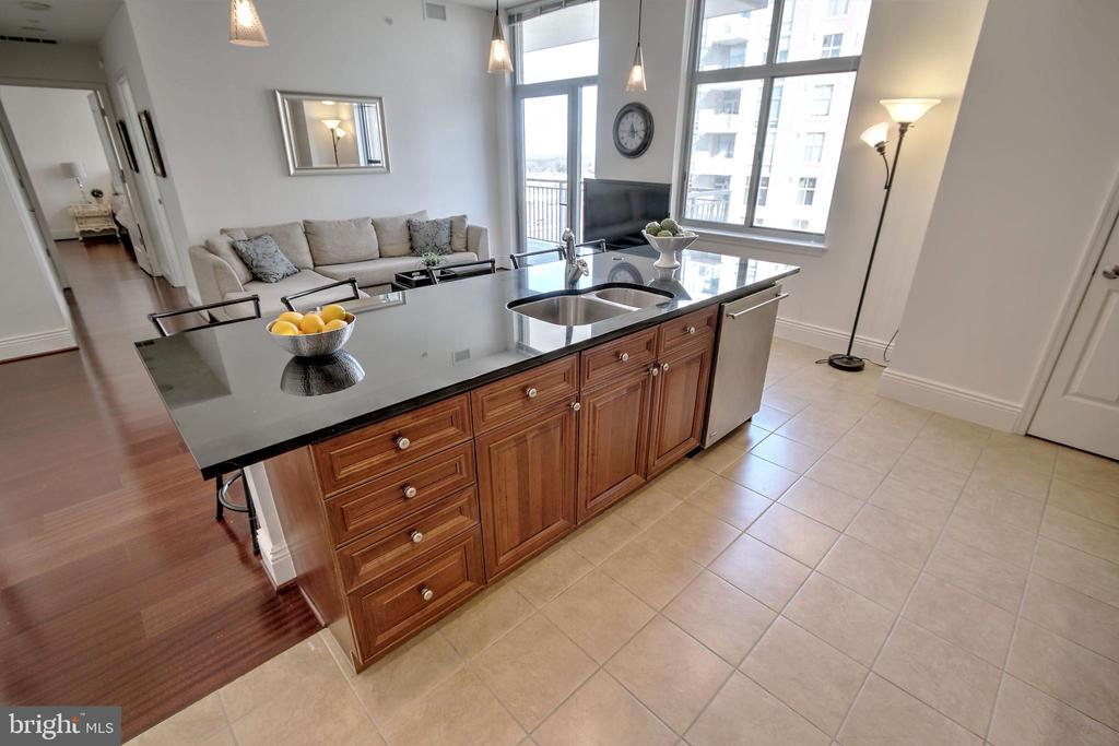 Huge Kitchen Island with Granite - 11990 MARKET ST #1811, RESTON