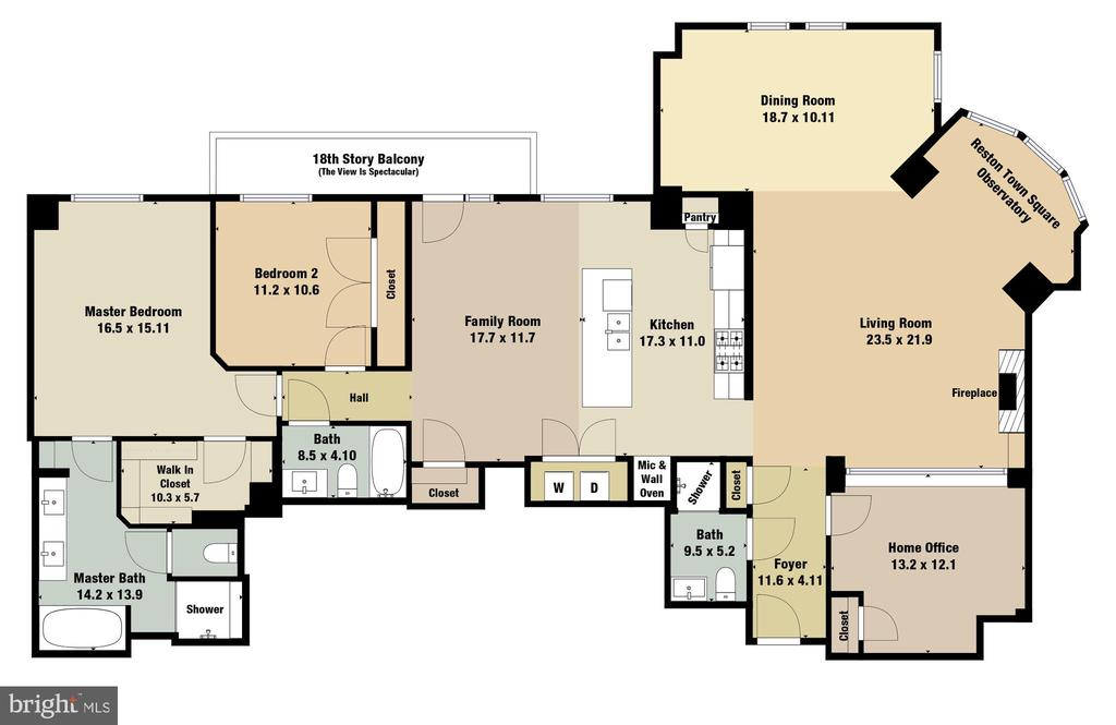Floorplan - Over 2000 Square Feet! - 11990 MARKET ST #1811, RESTON
