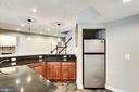 New large fridge in basement bar - 42744 RIDGEWAY DR, BROADLANDS
