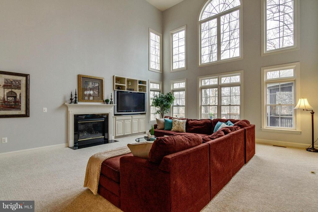 Family Room with Gas Fireplace - 12328 TIDESWELL MILL CT, WOODBRIDGE