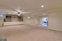 Basement Rec Room - 12328 TIDESWELL MILL CT, WOODBRIDGE