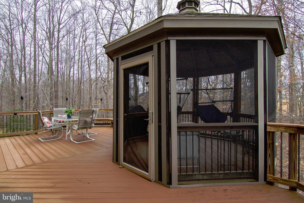 Deck & Screened Gazebo Winter - 12328 TIDESWELL MILL CT, WOODBRIDGE