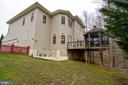 Exterior Rear with Walk-up Stair from Basement - 12328 TIDESWELL MILL CT, WOODBRIDGE