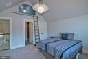 Bedroom with a loft - 203 CARRWOOD RD, GREAT FALLS