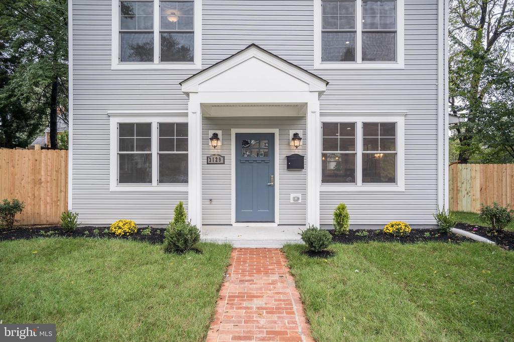 Sample photo of a prior build's exterior front. - 6722 WESTLAWN DR, FALLS CHURCH