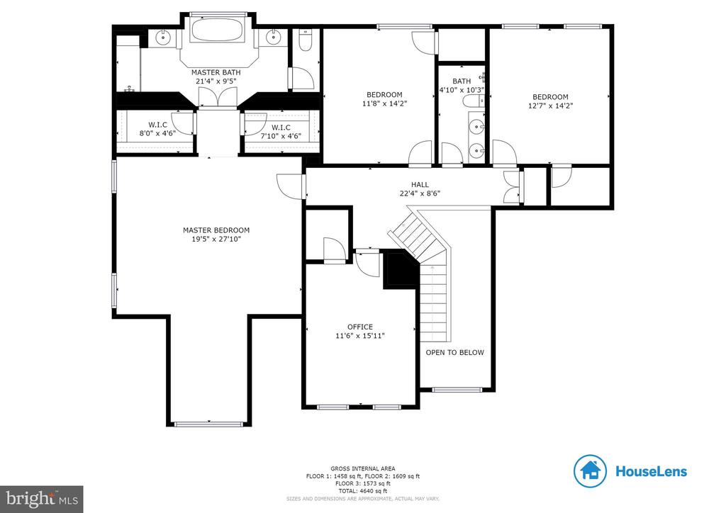 Upper Level Floor Plan - 42824 VESTALS GAP DR, BROADLANDS