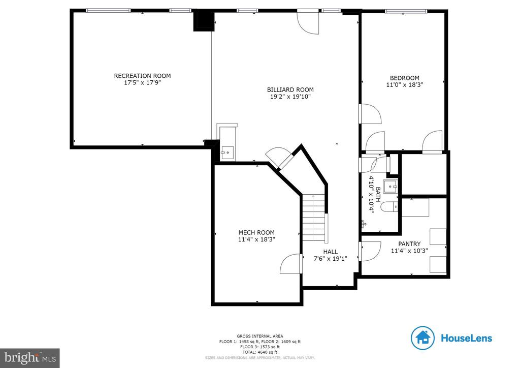 Basement Floor Plan - 42824 VESTALS GAP DR, BROADLANDS
