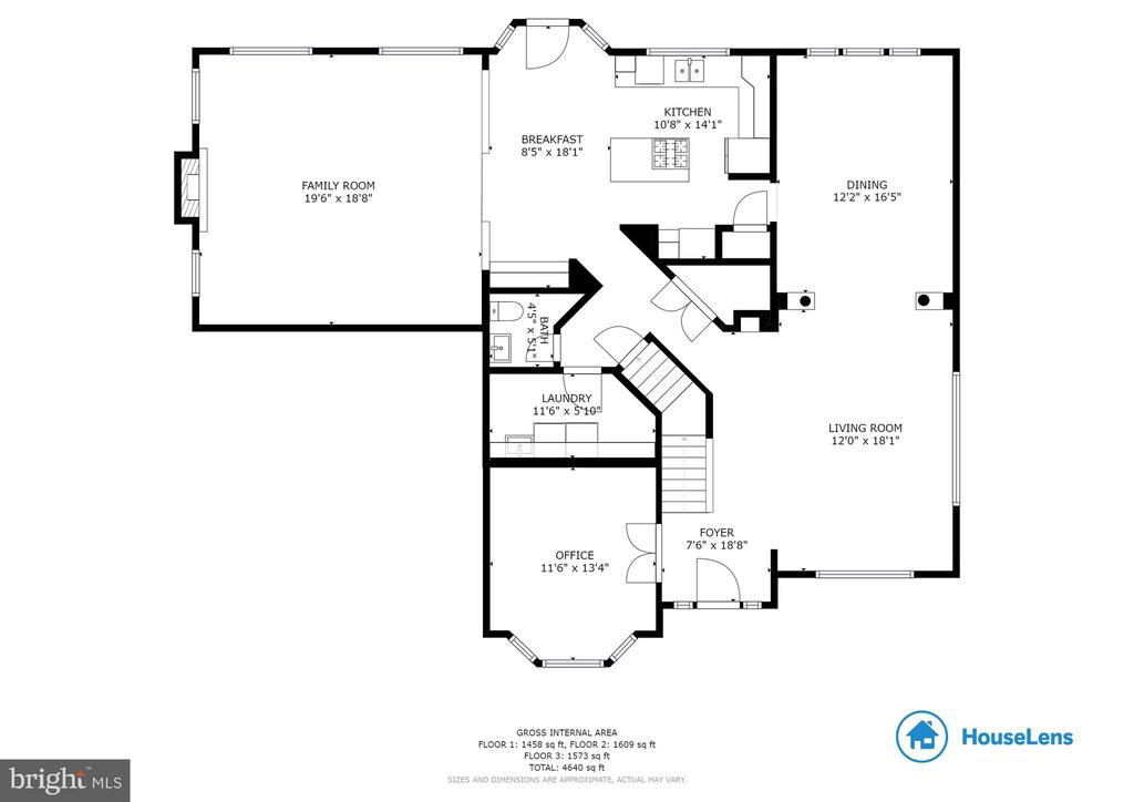 Main Level Floor Plan - 42824 VESTALS GAP DR, BROADLANDS