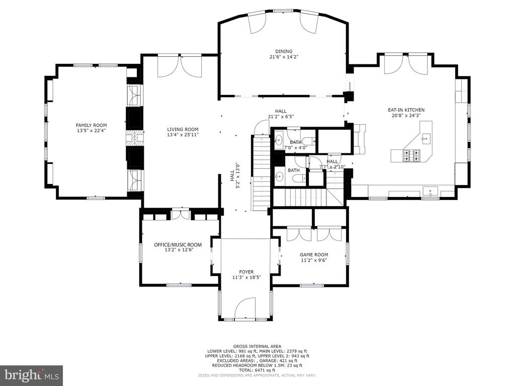 First Floor Floorplan - 6008 KENNEDY DR, CHEVY CHASE