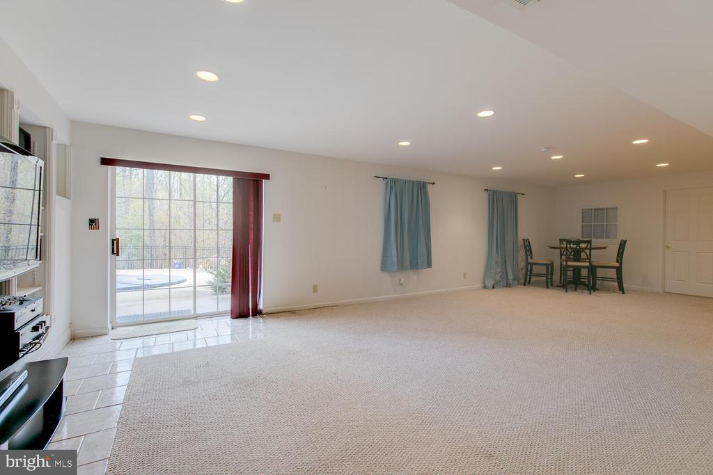 Basement Rec Rm - walk-out level to the pool - 1480 TRUSLOW RD, FREDERICKSBURG