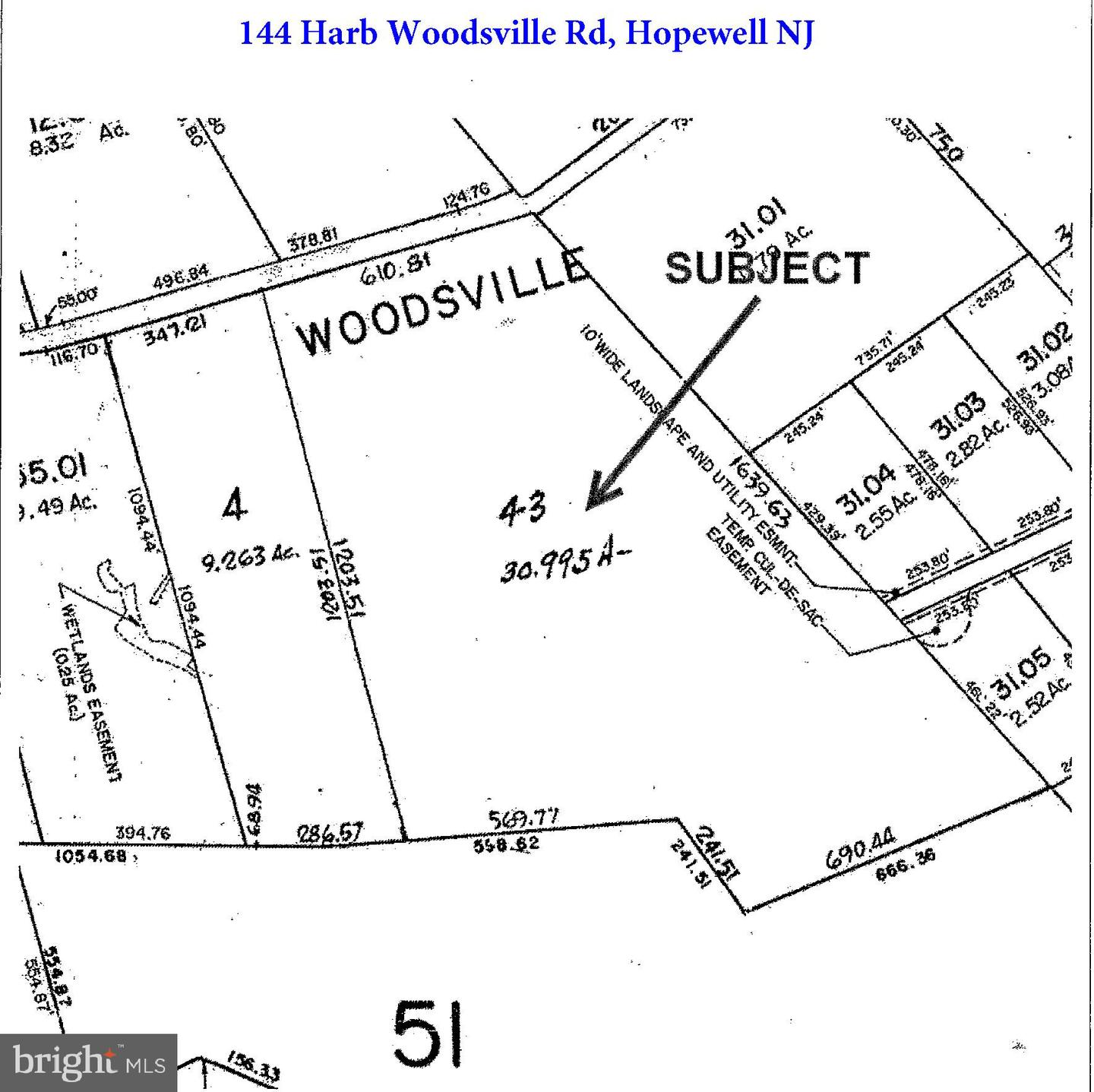 Land for Sale at 144 HARBOURTOWN WOODSVILLE Road Pennington, New Jersey 08534 United StatesMunicipality: Hopewell Township