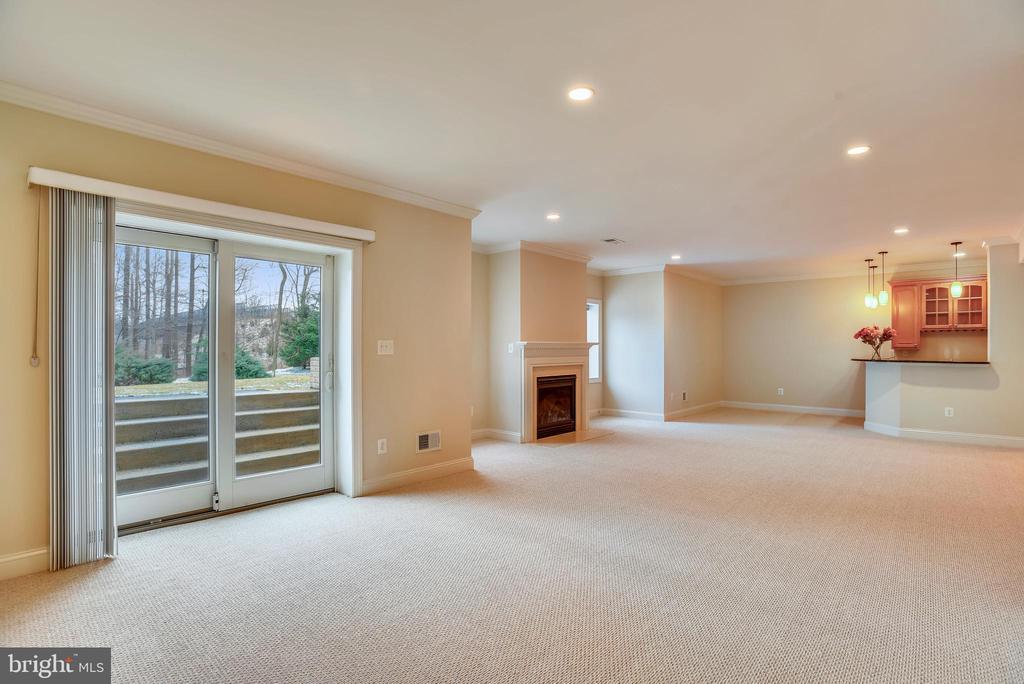 Spacious basement and walk out door. - 7919 N PARK ST, DUNN LORING