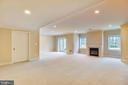 Basement recreation room with fireplace. - 7919 N PARK ST, DUNN LORING