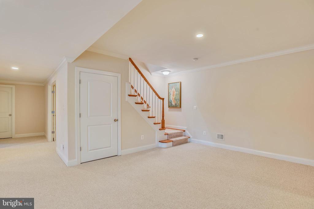 Storage closet below basement to main level stairs - 7919 N PARK ST, DUNN LORING