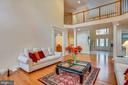 Second floor hallway overlooks great room. - 7919 N PARK ST, DUNN LORING
