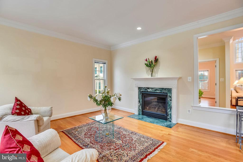 Family room with gas fireplace. - 7919 N PARK ST, DUNN LORING