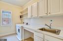 Expansive laundry room and wash sink. - 7919 N PARK ST, DUNN LORING