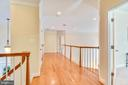 Second floor hallway. - 7919 N PARK ST, DUNN LORING