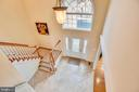 Second floor overlooking the foyer. - 7919 N PARK ST, DUNN LORING