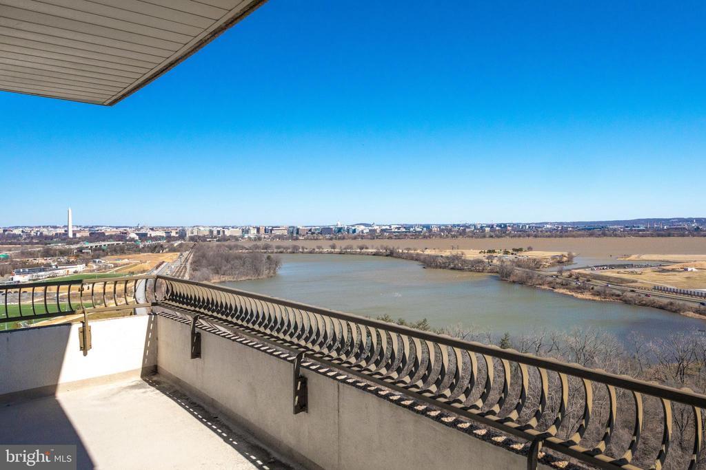Spectacular Views from the Terrace - 1300 CRYSTAL DR #PH3S, ARLINGTON