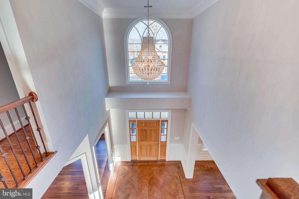 Foyer from 2nd Floor - 1916 STORM DR, FALLS CHURCH