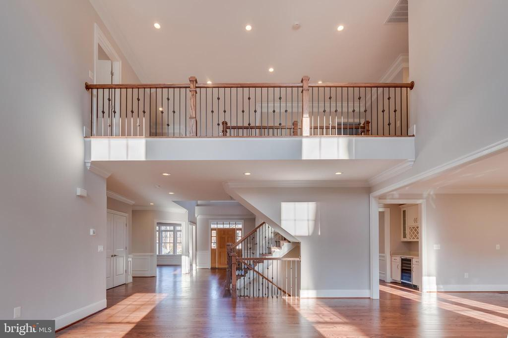 Foyer view from Family Room - 1916 STORM DR, FALLS CHURCH