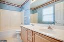 Master Bath with Dual Vanity Sinks - 8485 COLFAX DR, KING GEORGE