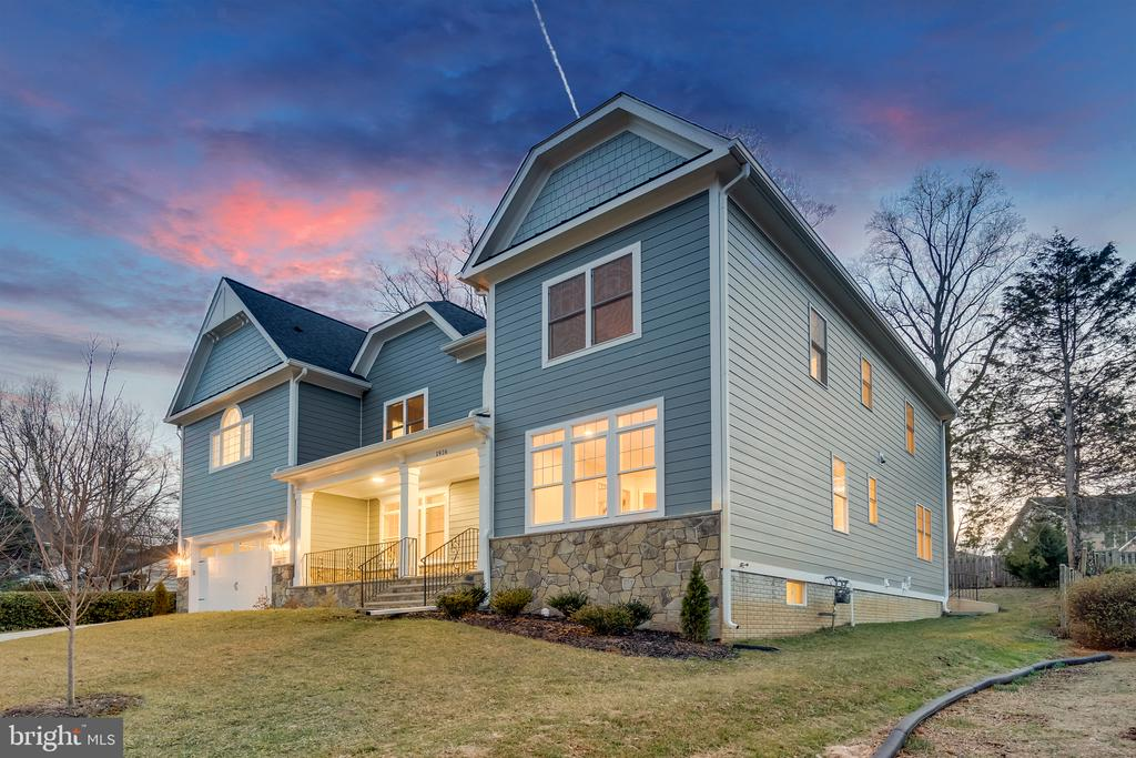 Front right side at dusk - 1916 STORM DR, FALLS CHURCH