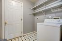 Separate Laundry Room w/ Shelving - 8485 COLFAX DR, KING GEORGE