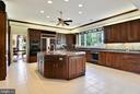 Kitchen: Anchored by Center Island - 6901 CLIFTON RD, CLIFTON
