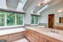 Bright Master Bath w/Skylights and Water Closet - 1505 N VILLAGE RD, RESTON