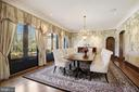 Formal Dining Room - 9811 AVENEL FARM DR, POTOMAC