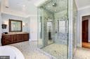 Owner Bath w/ Steam Shower - 9811 AVENEL FARM DR, POTOMAC