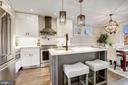 Gorgeous upgraded marble backsplash - 1731 OTIS PL NE, WASHINGTON