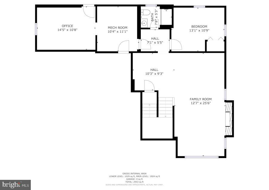 Basement Floor Plan - 6221 LAVELL CT, SPRINGFIELD