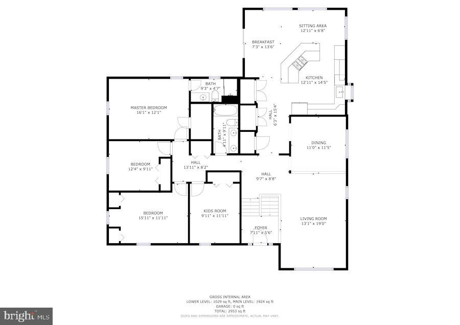 1st Floor Floor Plan - 6221 LAVELL CT, SPRINGFIELD