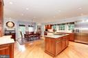 Expansive kitchen with large island and breakfast - 6008 KENNEDY DR, CHEVY CHASE