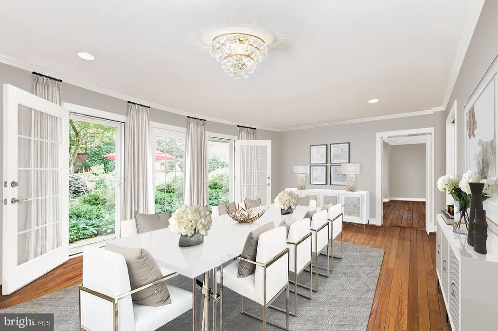 Photo of Dining Room Virtually Staged - 6008 KENNEDY DR, CHEVY CHASE