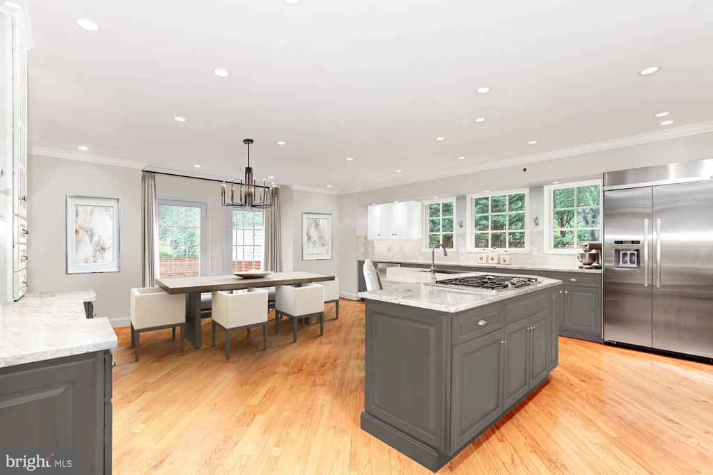 Photo of Kitchen Virtually Staged - 6008 KENNEDY DR, CHEVY CHASE