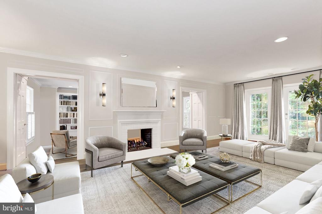 Photo of Living Room Virtually Staged - 6008 KENNEDY DR, CHEVY CHASE