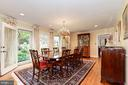 Formal Dining Room with access to rear garden - 6008 KENNEDY DR, CHEVY CHASE