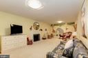 Lower level playroom with fireplace and mural - 6008 KENNEDY DR, CHEVY CHASE