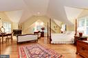 Light filled master suite with gas fireplace - 6008 KENNEDY DR, CHEVY CHASE