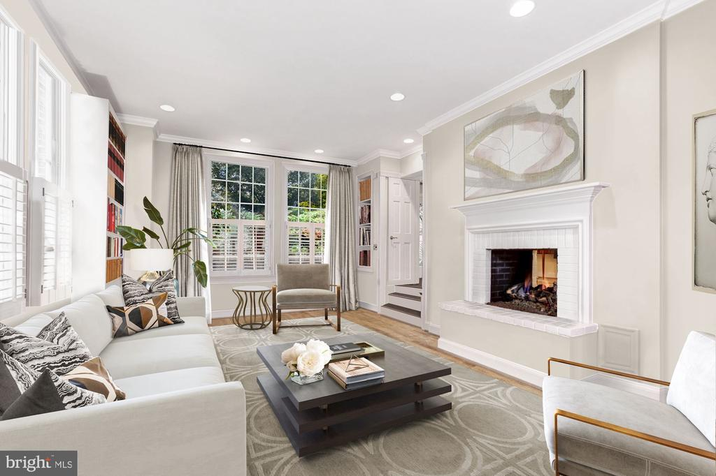 Photo of Family Room Virtually Staged - 6008 KENNEDY DR, CHEVY CHASE