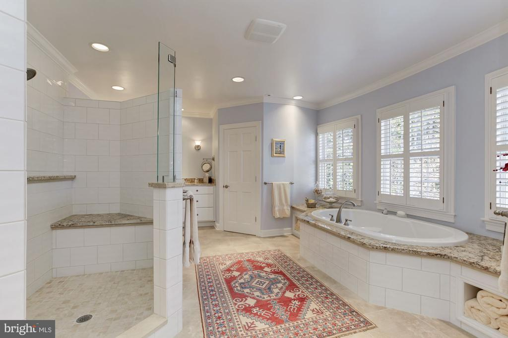Master bathroom w/ walk in shower and soaking tub - 6008 KENNEDY DR, CHEVY CHASE