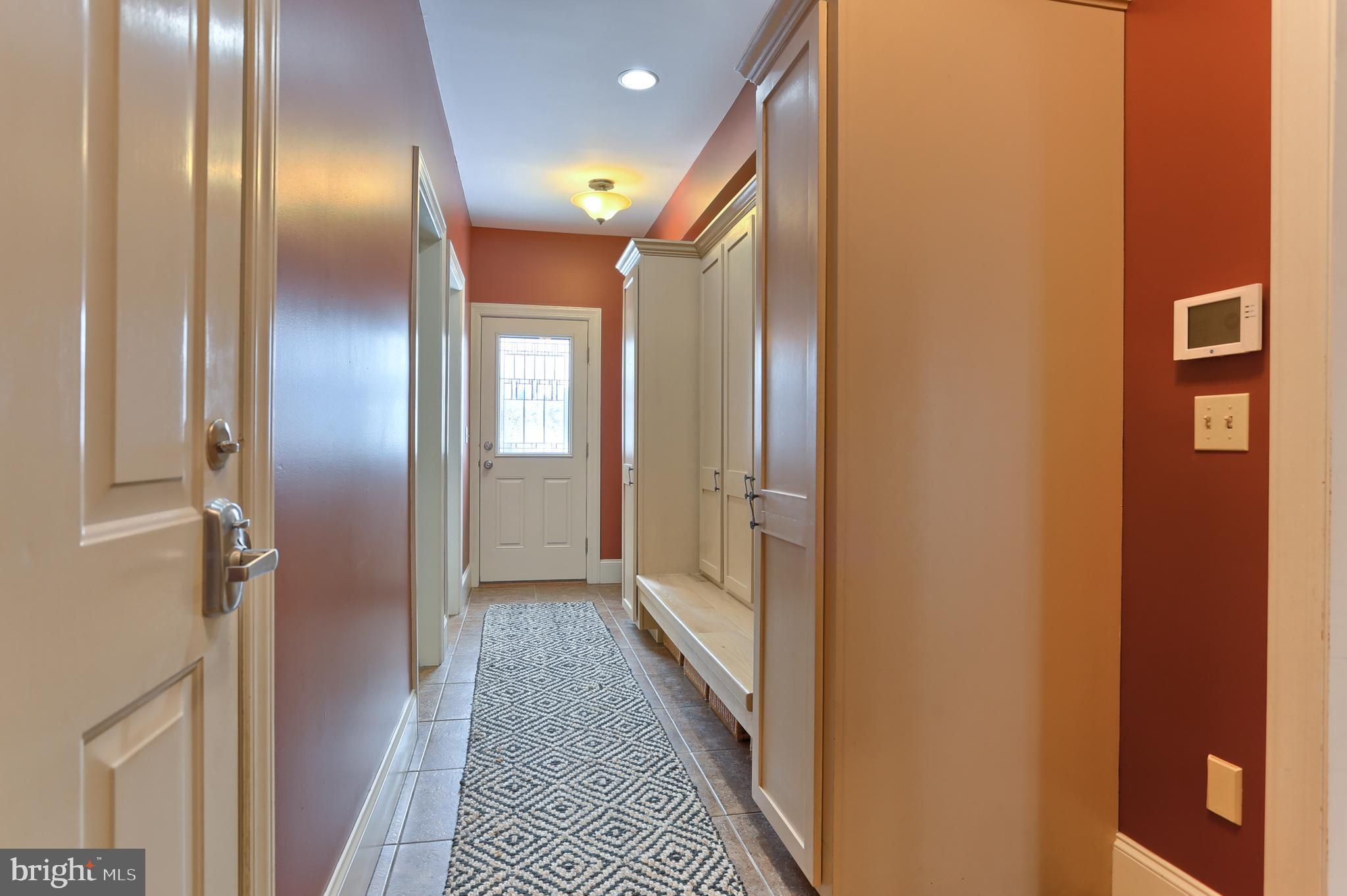Mudroom Entry off Pool and Garage