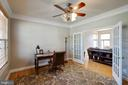 Office/Formal Living Room with French Doors - 12157 CANTERBURY CT, KING GEORGE