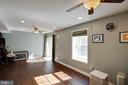 Natural Light in Basement with Plank Flooring - 12157 CANTERBURY CT, KING GEORGE