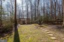 Private Rear Yard - 12157 CANTERBURY CT, KING GEORGE
